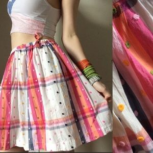 Furry Polka Dot Plaid Easter Skirt